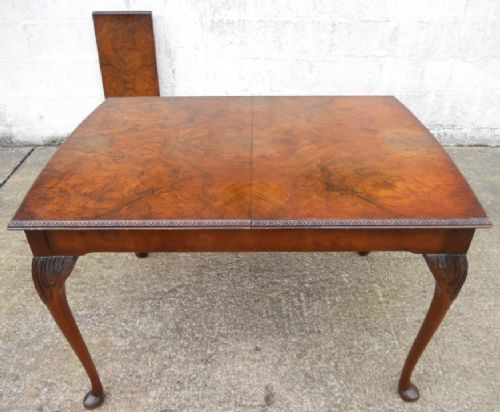 Antique Queen Anne Style Extending Dining Table to Seat Six - SOLD